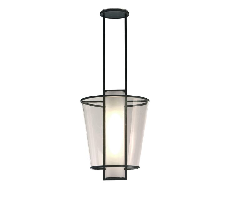 Handcrafted light with metal frame and glass shade INDOOR FINISHES: Steel Dark Patina Steel Ash Patina Natural Steel Steel Bronze Patina OUTDOOR FINISH:..