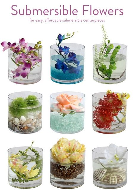 DIY Wedding Flowers - Submersible Flowers for your wedding.