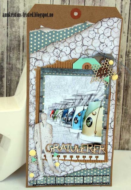 Tag for a male vw buses birthdaycard