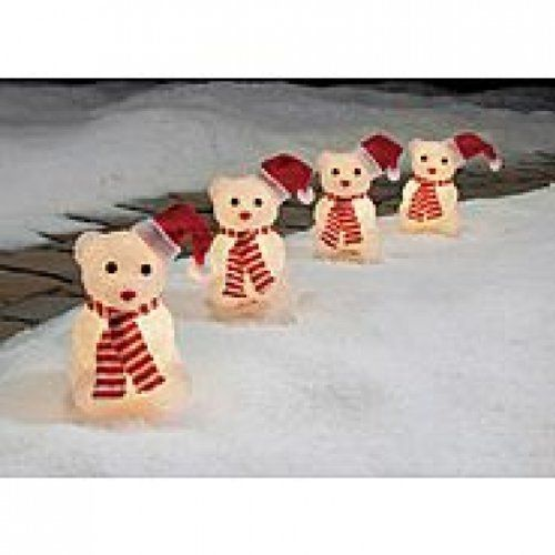 13 best christmas lights k mart images on pinterest christmas christmas crystalline lighted snow bears pathway markers 4 piece fandeluxe Images