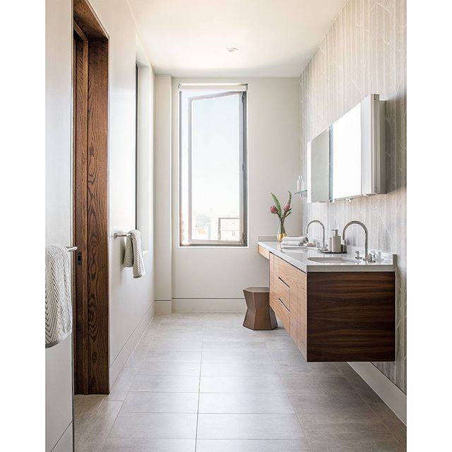 Gallery One Caesarstone tip does your bathroom feel on the smaller side Float the island to give the illusion of more space This Niche Interiors bathroom features