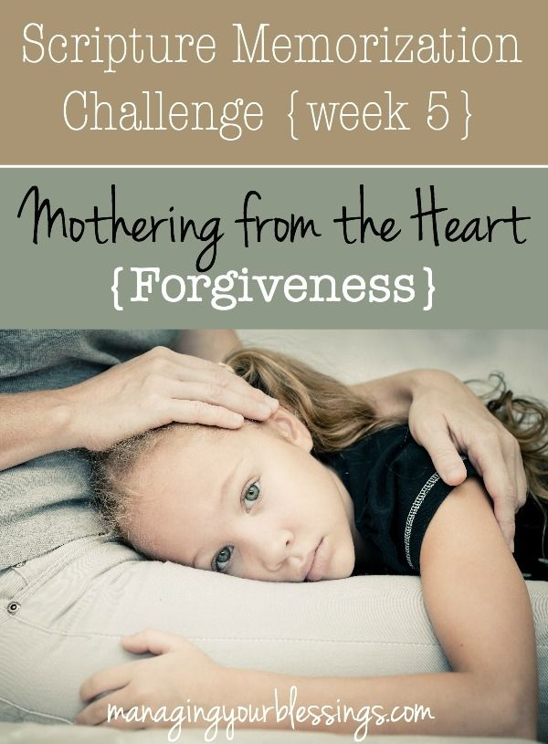 Do you struggle with unforgiveness? If so, today's scripture memorization verse will help you get to the bottom of it and walk in freedom! :: ManagingYourBlessings.com