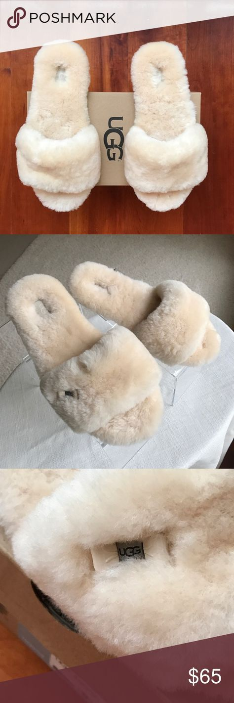 UGG Fluff Flip Flop Slippers NWT The ultimate fluffy anything! UGG Fluff Flip Flop II. I almost fainted when I slipped these on. They envelope your foot in sheepskin. 100% authentic. New in box. Size 9. UGG Shoes Slippers
