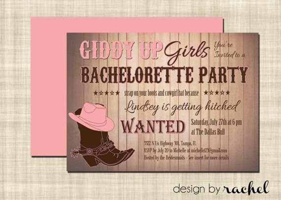 Hey, I found this really awesome Etsy listing at http://www.etsy.com/listing/127013173/cowgirl-bachelorette-party-invitation
