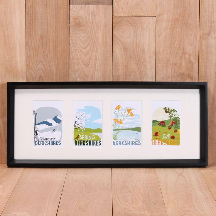 Framed Berkshires Postcard Set