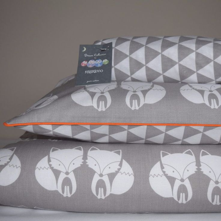 Woodland 100%COTTON Cot Bed Duvet Cover Set Girls Boys Grey My Friend  Fox