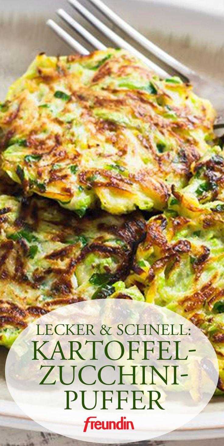 Rezept für Kartoffel-Zucchini-Puffer