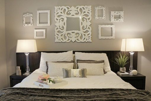 White Classic Wall Art in Contemporary Bedroom