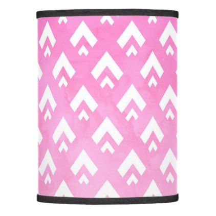 Modern pink watercolor ombre triangles chevron lamp shade - pattern sample design template diy cyo customize