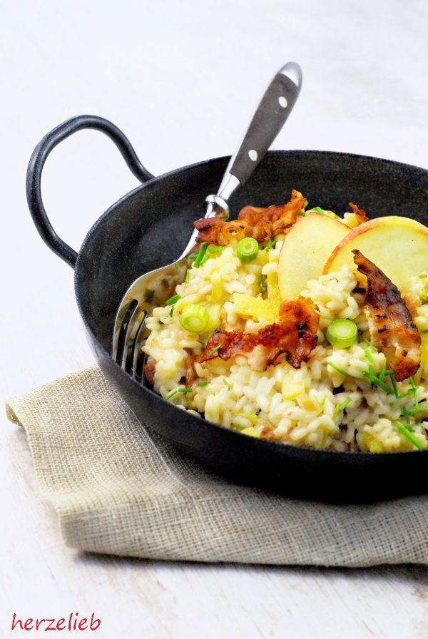 Reispfanne mit Apfel und Speck - nach Risotto-Art von  herzelieb  einfach, Reis, Rezept, Risotto, Speck