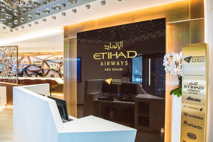 Etihad Airways Business Lounge in Abu Dhabi