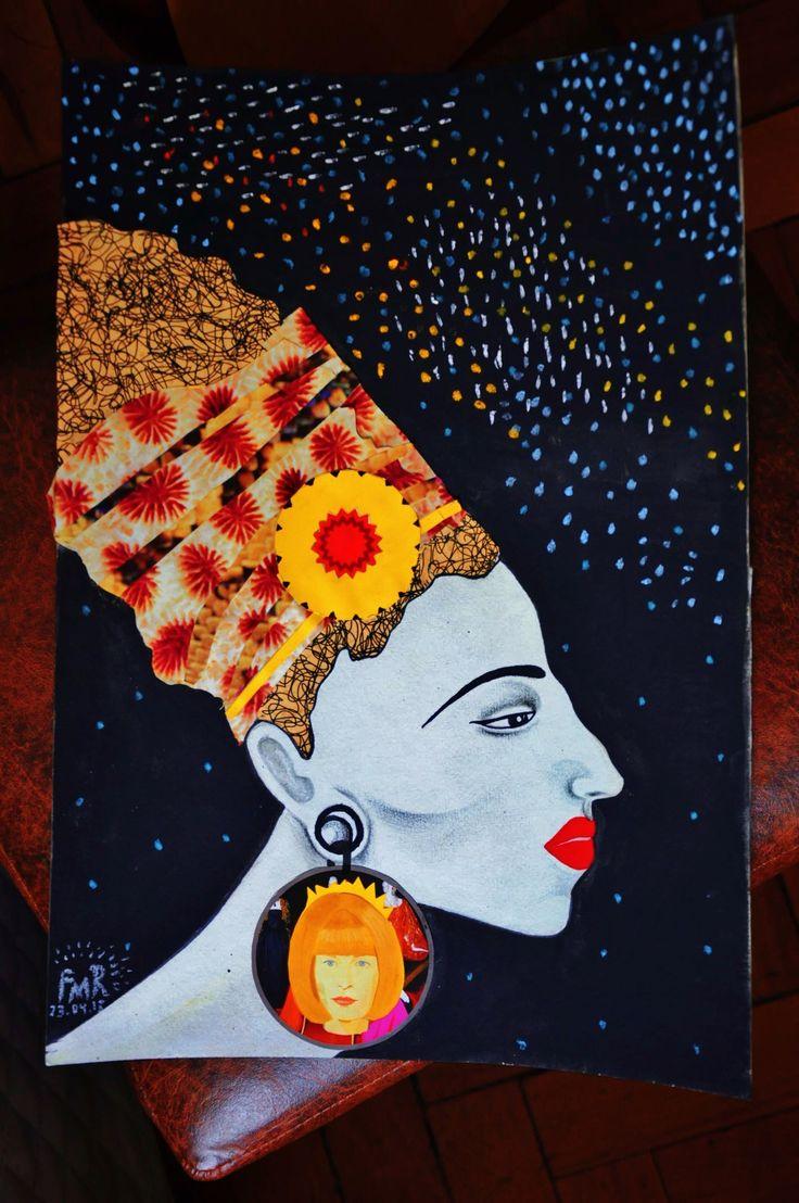 Noite de Sofia  Tinta guache, recorte e colagem , lápis grafite e giz pastel. #black #style #night #space