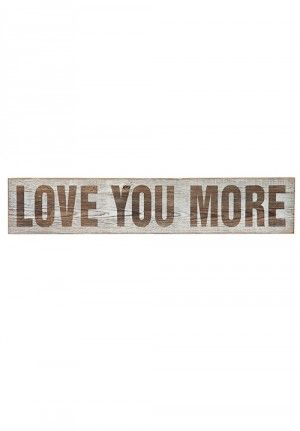 Love You More Sign, Wall Decor, Wooden Wall Decor