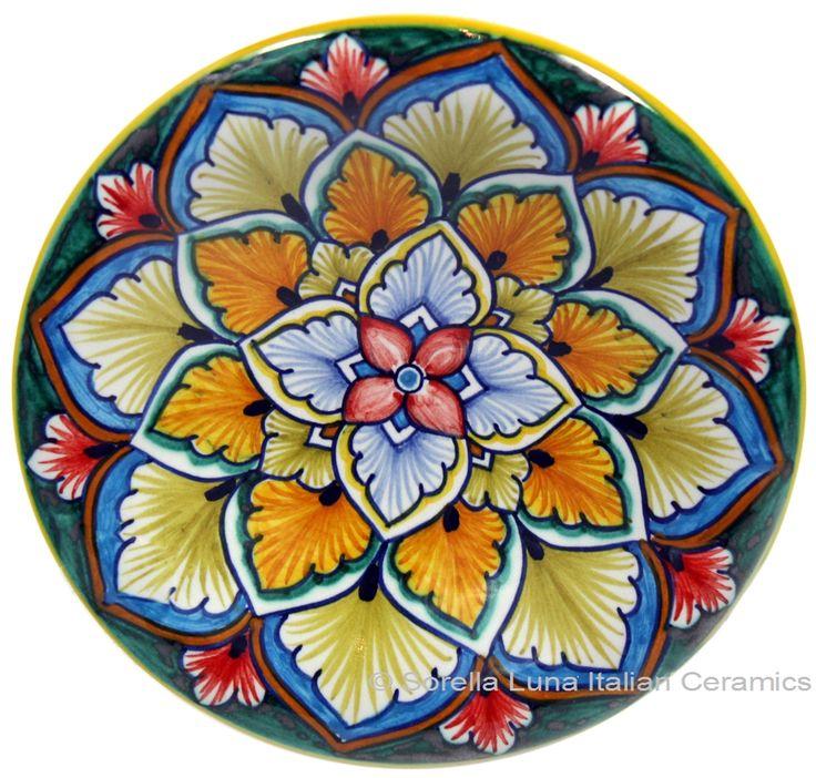 Hand Painted Ceramic Majolica Plate   12cm