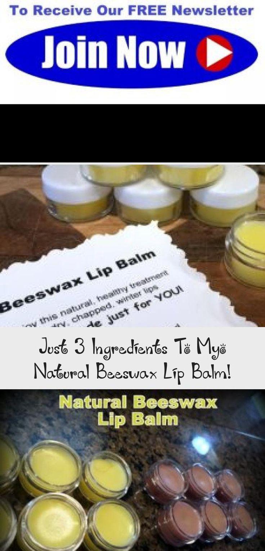 Just 3 Ingredients To Myo Natural Beeswax Lip Balm! Make