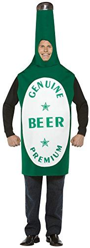UHC Mens Green Beer Bottle Funny Theme Party Adult Halloween Costume OS ** More info could be found at the image url.