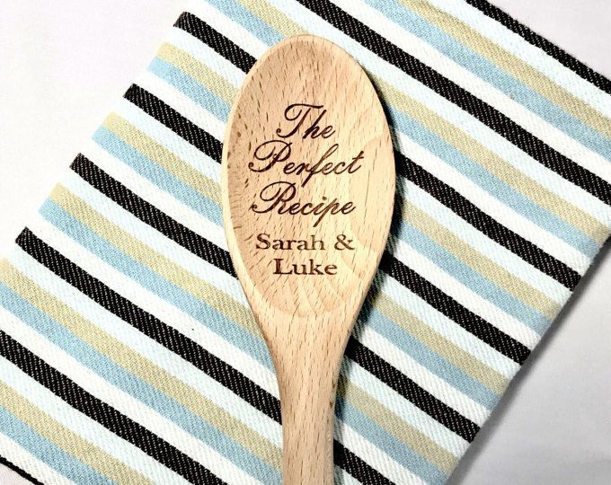 Custom gift for Mother/'s Day Wedding Party Birthdays and Company Logo Personalized Engraved Bamboo Spoon Housewarming