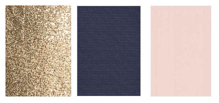 Gold Navy and blush | Final colour scheme