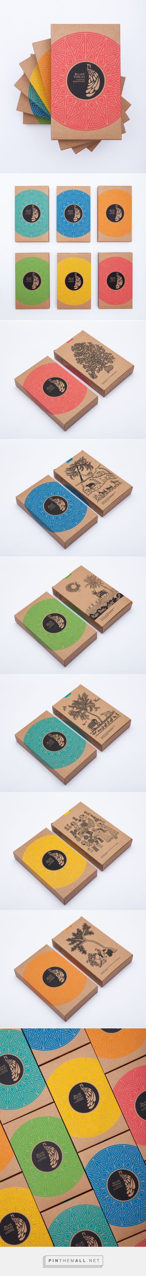 Graphic design, print design and packaging for Blue Tokai on Behance by Impprintz Graphic Design, Mumbai, India curated by Packaging Diva PD. Boxes contain the best and freshest single estate Arabica coffees from farms across India.