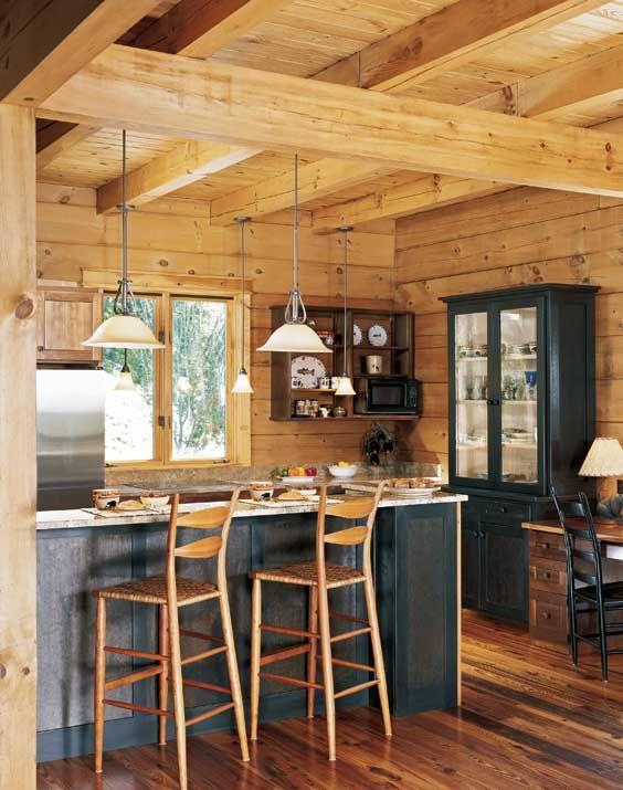 54 best Log homes images on Pinterest | Dream kitchens, Log home ...