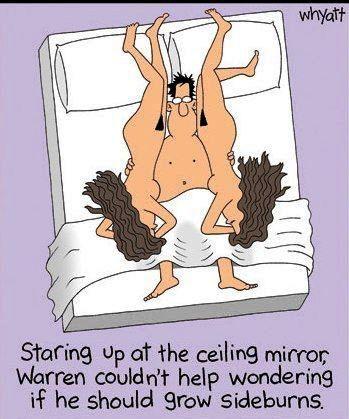 Necessary words... Adult humour cartoon