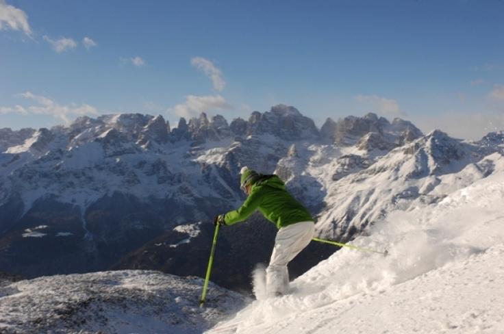 #sport estremi #inverno #trentino: #sci sulle #Dolomiti