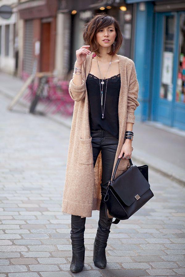 CARDIGAN Publié le 16 mars 2015 | Par Zoé | Top The Kooples Gilet Asos Slim Zara Boots Acne Sac Céline // BO Bijou Brigitte // Sautoirs Perso & Bijoux Saily