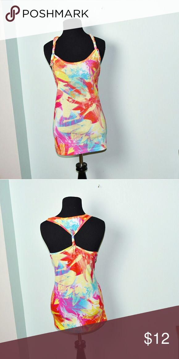 Adorable Bright Print Neon Top In excellent condition! Very comfortable, lightweight, and flattering! Buy 3 items and get 1 free plus 15% off your purchase total! Tops