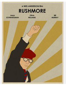 Rushmore inspired movie poster
