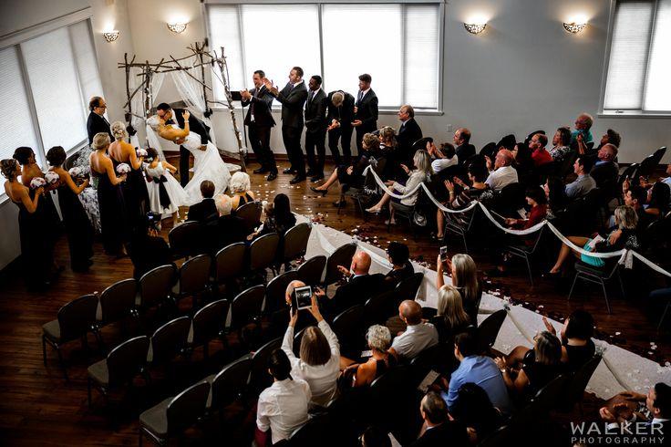 First kiss at wedding ceremony  Wedding Photography Calgary Alberta  Walker Photography www.walkerphoto.ca