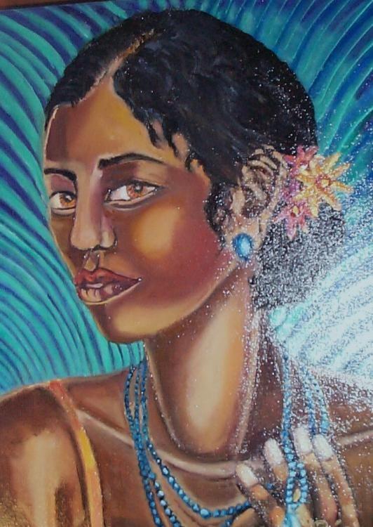 """""""La Dame À La Turquoise"""" by Raja El Ouadili"""