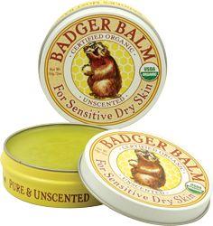 Badger Balm Unscented For Sensitive Dry Skin