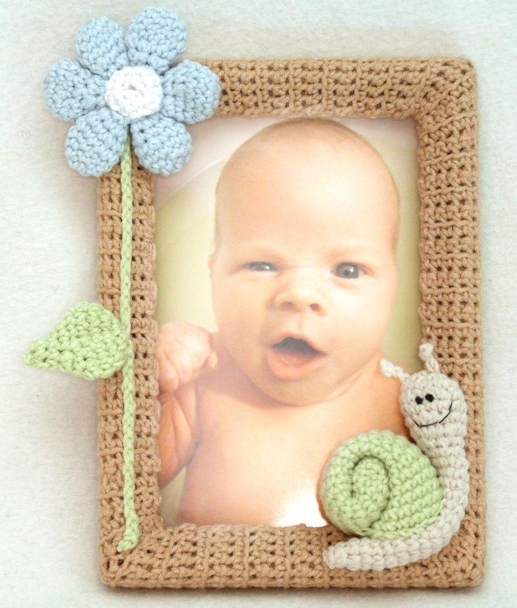 "Фоторамка ""Улитка"", вязаная крючком Frame ""Snail"", crochet"