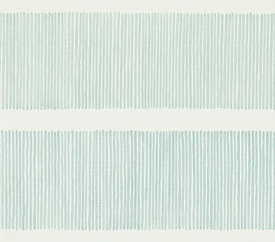 Tatami Stripe Aqua Teal (213738) - Sanderson Wallpapers - A modern, two-tone horizontal stripe which takes its inspiration from Japanese Tatami mats. Shown in the aqua and teal colourway.  Paste the wall. Please request sample for true colour match.