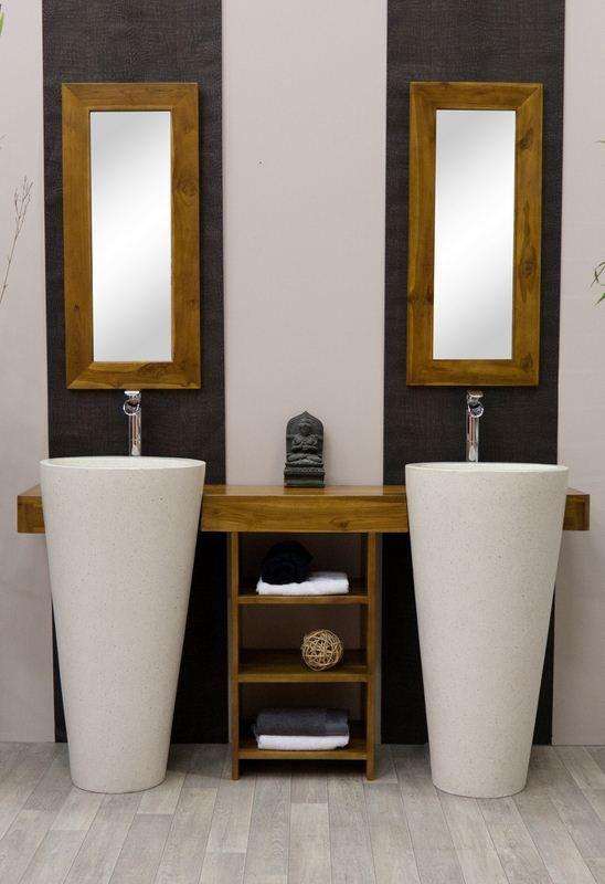 Meuble Salle DE Bain Teck Osiris Double | eBay