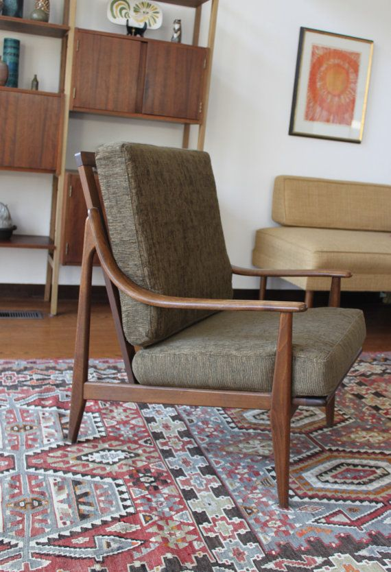 Mid Century Modern Chair in the Style of Peter by athomemodern