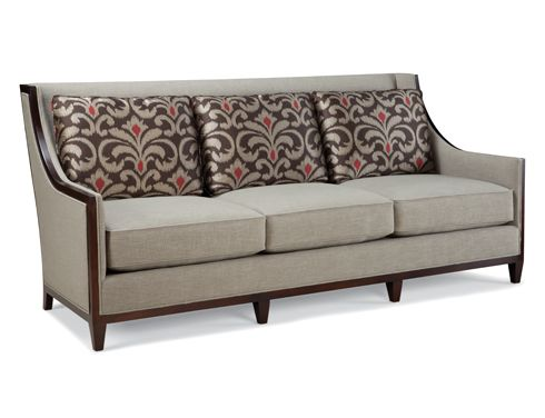 Shop For Fairfield Chair Company Sofa And Other Living Room Sofas At Bostic Sugg Furniture In Greenville NC Shown With Optional Contrasting Fabric On
