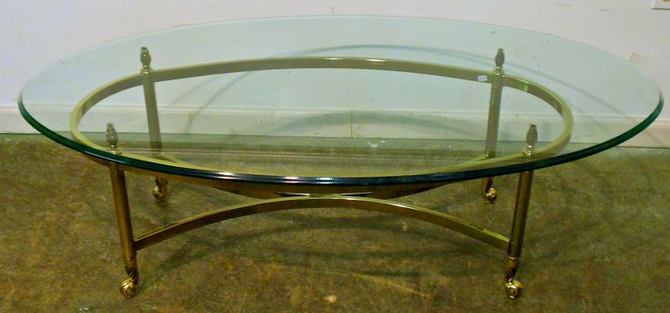 Oval Glass Coffee Table Metal Frame - Contemporary Living Room Furniture Sets Check more at http://www.buzzfolders.com/oval-glass-coffee-table-metal-frame/