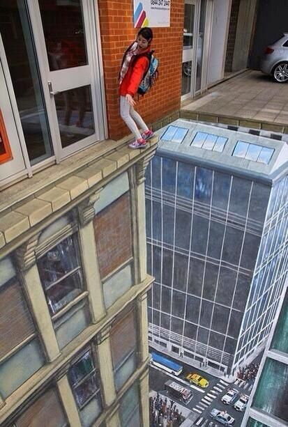 3D street art.