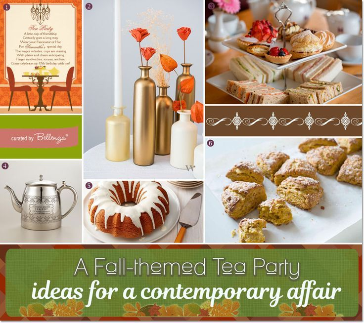 Plan a contemporary fall tea party! Ideas on the blog today: http:/