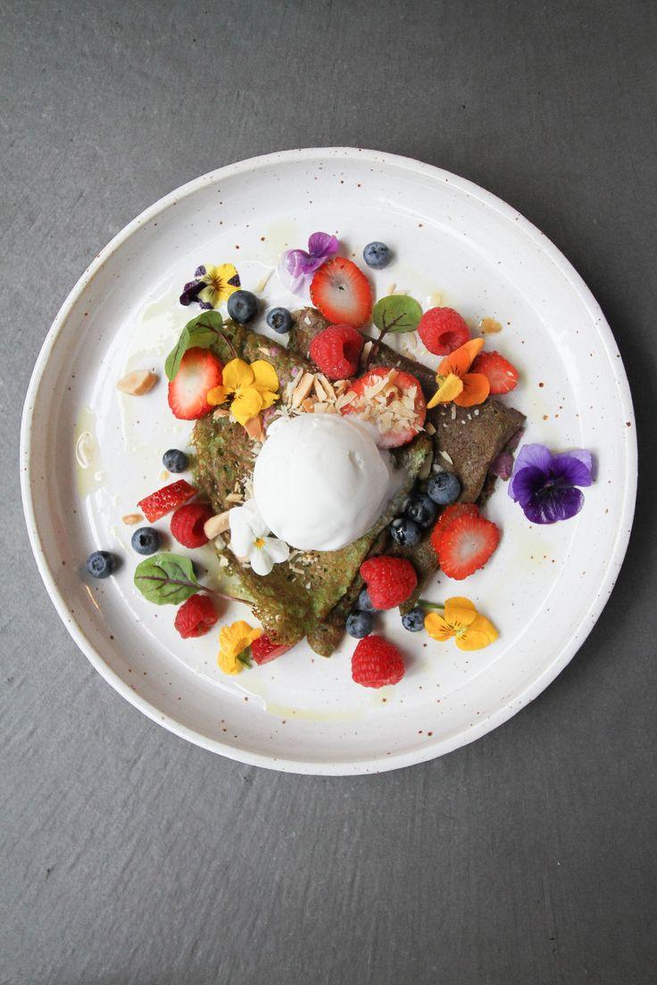 Buckwheat Matcha Crepes from Smäk Food House