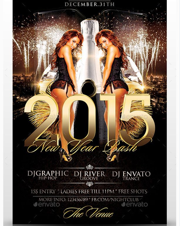 Best New Year Flyer Template Images On   Business