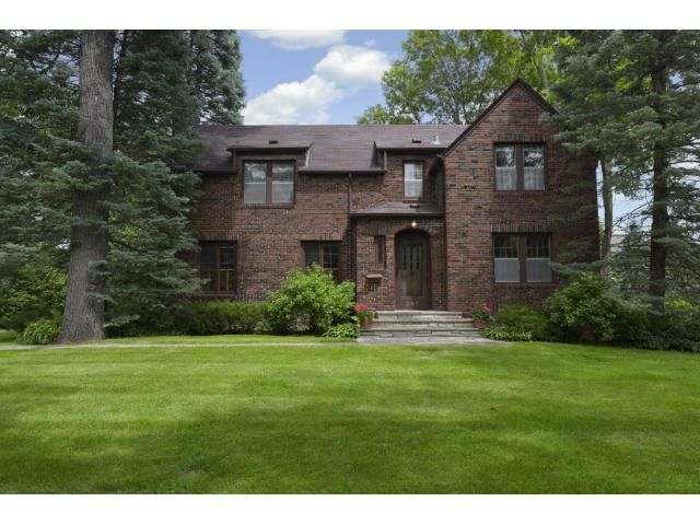 A stunning brick Tudor home in Hopkins, MN.