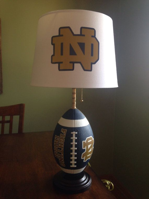 Notre Dame Football Lamp On Etsy 80 00