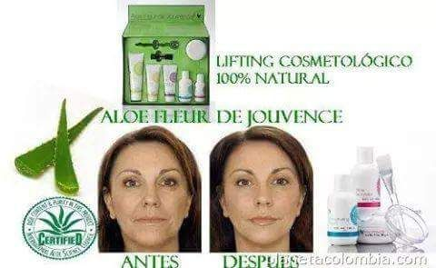 Aloe Fleur de Jouvence - The all-round care package for your skin. These superbly matched products are presented in a decorative box and contain pure aloe vera gel, special plant extracts, pH-balanced fruit acids with jojoba and apricot kernel oil and fat-soluble vitamins. Aloe Fleur de Jouvence Collection Rehydrating Toner Aloe Cleanser   Firming Day Lotion Mask Powder Recovering Night Creme   Aloe Activator Mixing spoon, applicator brush and mixing bowl included..