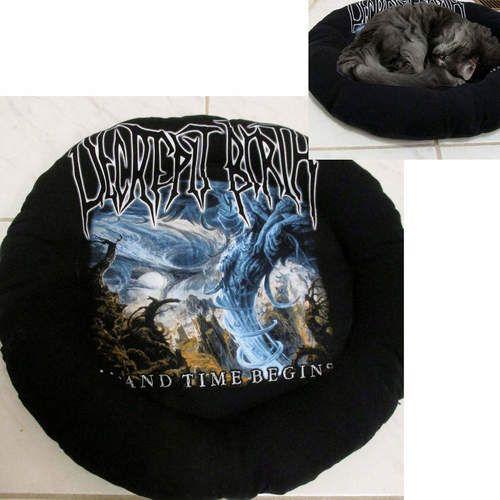 Decrepit Birth Band Shirt Cat Bed DIY Death Metal