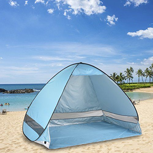 Oversized Pop UP Beach Tent Sun SheltersAutomatic XXL Lightweight Portable Family Anti UV Cabana23 personSet Up and Fold Up in Seconds -- Click image for more details.