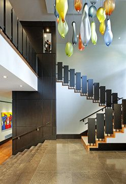 Contemporary Staircase Photos Railings Design, Pictures, Remodel, Decor and Ideas - page 10