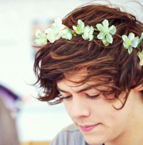 Harry Styles (he actually looks great in a flowery crown...)