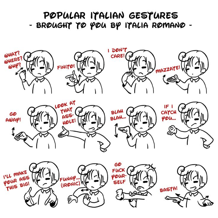 APH - popular Italian gestures by Mezzochan.deviantart.com on @deviantART ~ brought to you by Romano lol! :D